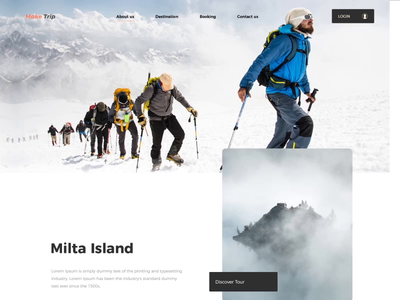 Make Trip website ui ux ux kit uidesign website design landingpage island adventure tripadvisor website animation ui brand design clean  creative webdesigner design modern branding clean after effects animation after effects