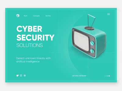 Landing Page cyber security uidesign landing page website design modern ui clean  creative website animation webdesigner branding design clean after effects animation after effects