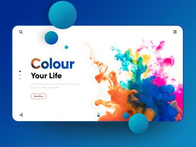 Colour your Life:- Landing page