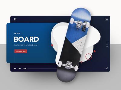 Skateboard: Customize your Skateboard skateboard graphics skateboarddesign brand design uiuxdesign uidesign clean  creative landing page website animation website design ui after effects modern design clean branding