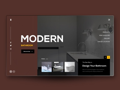 Modern Bathroom bathroom modern art modern bathroom brand design uiuxdesign uidesign landing page website design webdesigner after effects clean  creative modern design clean branding