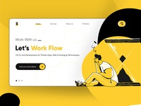 Let's Work Flow Landing Page