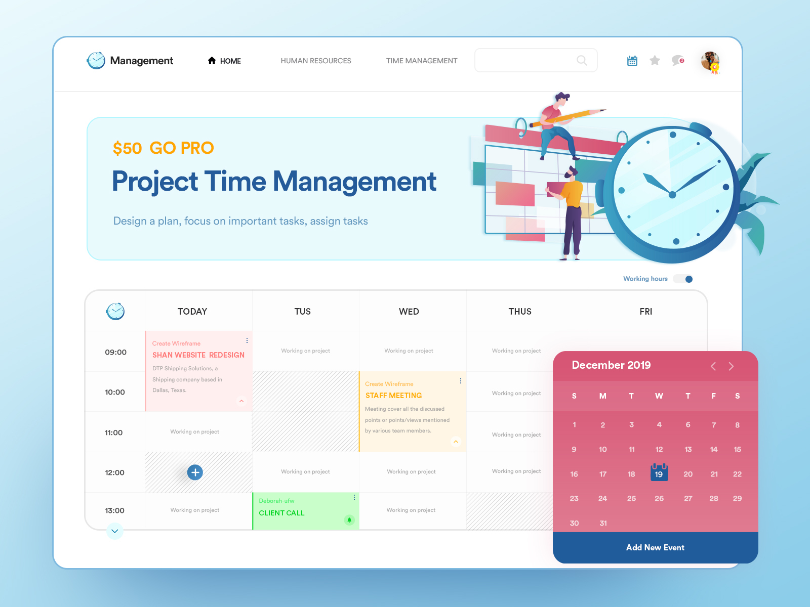 Project Time Management Real Time Tracker By Sahil Bajaj For Master Creationz On Dribbble
