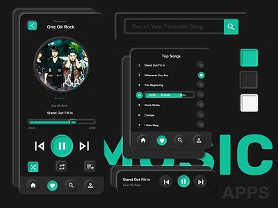 Neumorphism Music Apps Exploration clean ui neumorphism neumorphic type icon flat graphic design app typography ui ux design branding