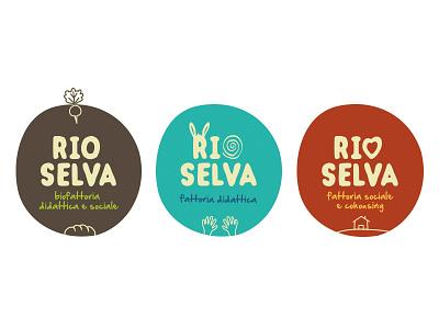 Rio Selva branding farm organic logo branding