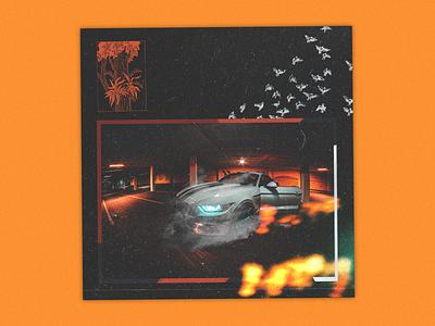 192 graphics album poster bold techno glitch cyberpunk punk grunge design