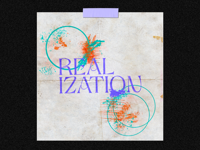 204 :: Realization texture techno poster graphics design typography type bold punk grunge