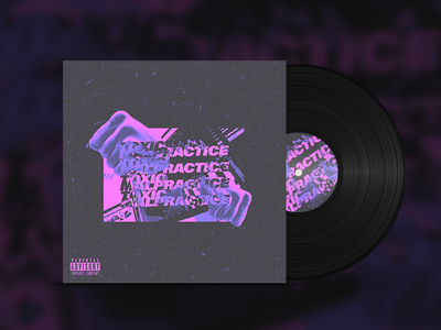 Toxic Malpractice Cover Version 2 type bold typography vaporwave cyberpunk punk grunge techno glitch album