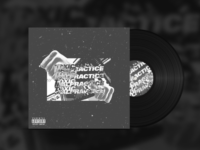 Toxic Malpractice Cover Mockup type bold typography vaporwave cyberpunk punk grunge techno glitch album