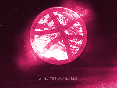 Dribbbble Invite Promo! type bold typography vaporwave cyberpunk punk grunge techno glitch poster