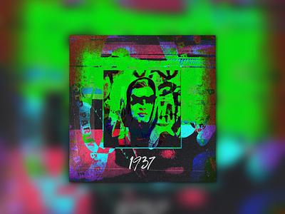 • n i n e t e e n t h i r t y s e v e n  • type bold typography vaporwave cyberpunk punk grunge techno glitch album