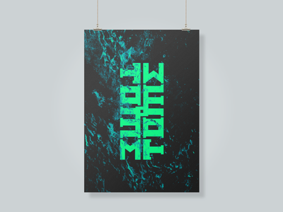 •T O M E • type bold typography vaporwave cyberpunk punk grunge techno glitch album
