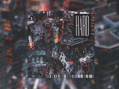 Hard type bold typography vaporwave cyberpunk punk grunge techno glitch album