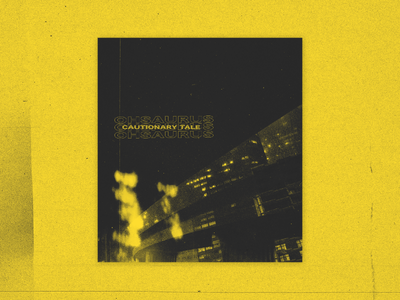 Cautionary Tale Artwork Display Small type bold typography vaporwave cyberpunk punk grunge techno glitch album