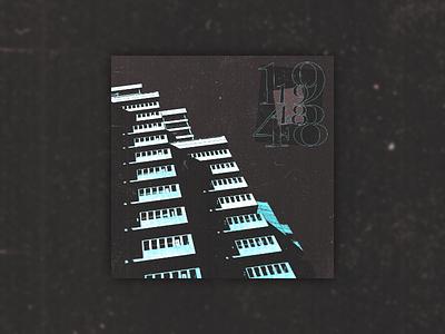 1948 type bold typography vaporwave cyberpunk punk grunge techno glitch album