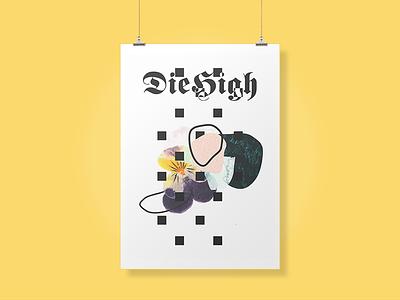 𝕯𝖎𝖊 𝕳𝖎𝖌𝖍 type bold typography vaporwave cyberpunk punk grunge techno glitch poster