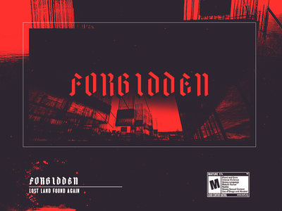 • 𝖋𝖔𝖗𝖇𝖎𝖉𝖉𝖊𝖓 • type bold typography vaporwave cyberpunk punk grunge techno glitch poster