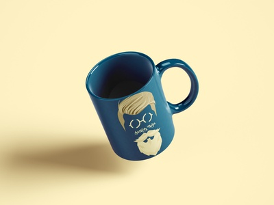 Stitch Bros Coffee Cup colors brand identity tailoring blue yellow logotype logo design mascott iconography creative design dribble character concept graphic design coffee cup illustration behance branding brand design