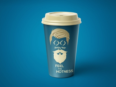 Stitch Bros Coffee Cup color hot branding and identity branding concept papercraft coffee shop coffee cup clothing brand clothing logo creative clothing design yellow branding illustration dribble blue graphic design brand design behance