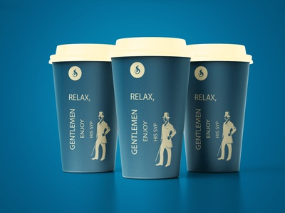 Stitch Bros Paper Cup creativity cup coffee shop coffee cup clothing company clothing brand creative direction creative design clothing design yellow illustration branding blue graphic design behance dribble brand design design