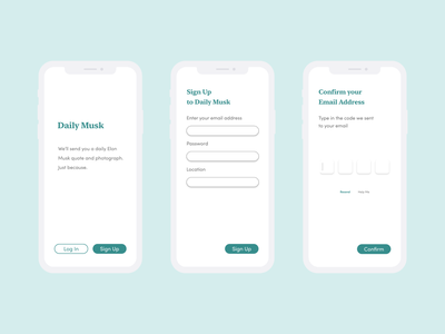 [Daily Musk] Daily UI : 001 / Sign Up signup page signuppage adobexd uidesign dailyuichallenge dailyui 001 dailyui