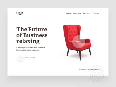Web design - Furniture concept landing page creative ecommerce website designer minimal userinterface ux ui furniture webdesign
