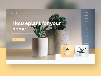 Houseplant - website ui ux landing page landing web design website webdesign web minimal design