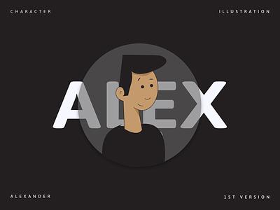 Flat Character Illustration - Alex animation branding logo motion graphics graphic design 3d pattern minimal illustration dribbble vector figma design
