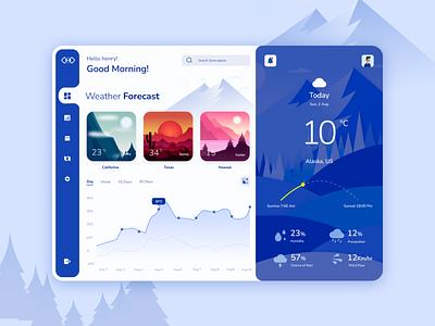 Weather Dashboard UI design webui webdesign landingpage dashboard wireframe cliamte weatherapp ux ui vector papercuteffect illustration minimal dribbble figma design