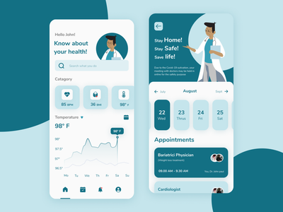 Health consulting App UI design ux cleanui medical medicine covid characterillustration consulting vector ui minimal illustration dribbble figma design