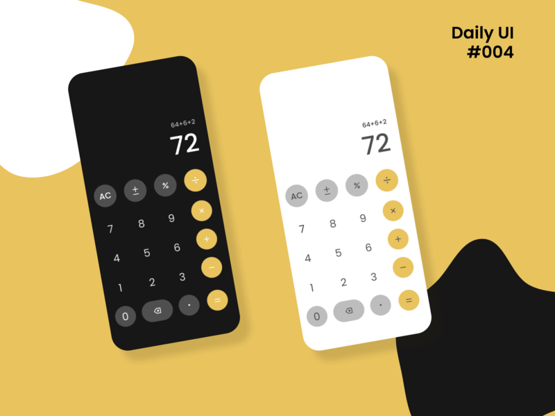 Daily UI #004| Calculator mobile ui mobile app design mobile design app design app ui daily ui dailyui calculator mobile calculator ui calculator