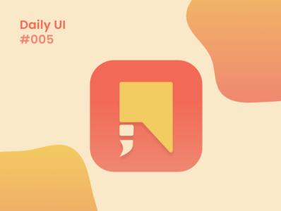 Daily UI #005 app icon logo app icons app icon design icon app app icon mobile ui design mobile ui mobile app design mobile design app design app ui daily ui dailyui