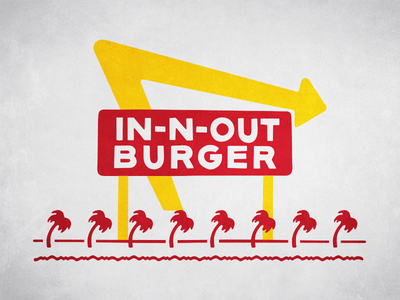 In N Out Print in n out poster
