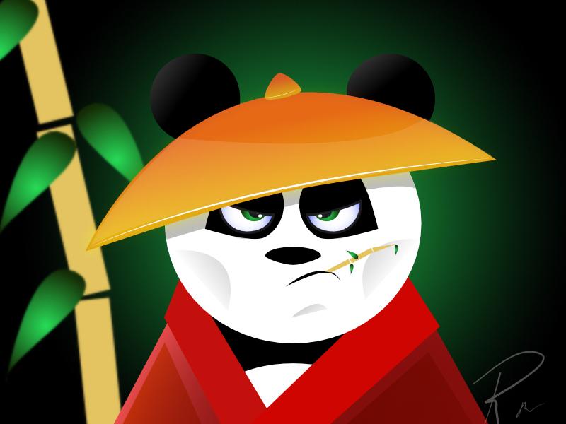 Pete Panda illustration affinity designer vector art 3d illustration macaffinity panda