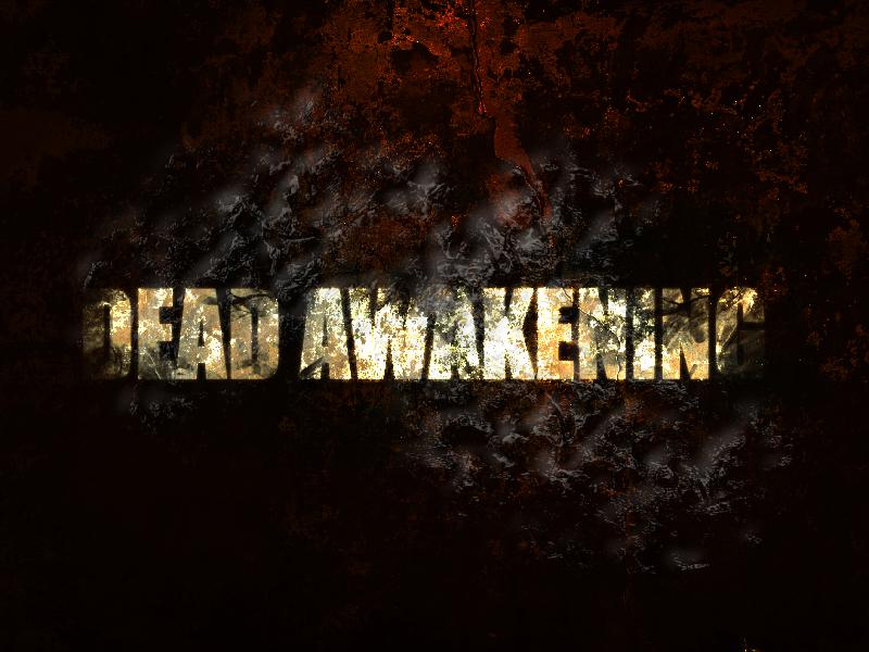 Dead Awakening The Movie title graphic illustration affinity designer vector