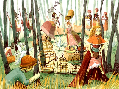 Book Illustration characterdesign digitalart illustration bookillustration childrens books forest