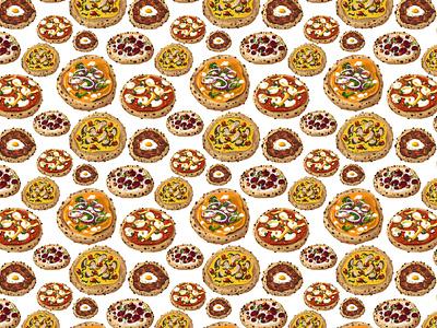 Pizza Pattern procreate food illustration patterns pizza pattern design illustration