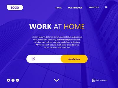 Home Page Design With XD adobe xd website web templates design web  design ui