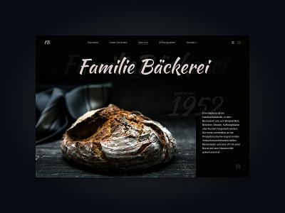 Website concept for a bakery. typography website web ux ui design