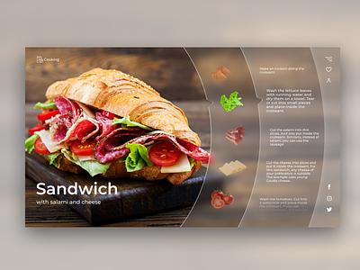 The website cooking glassmorphism cooking website web ui design