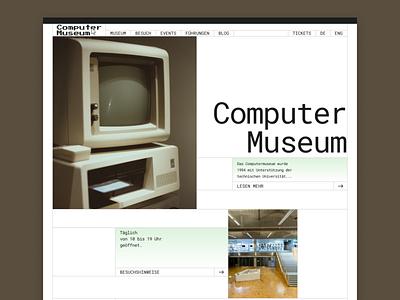Computer Museum website brutalism ux website web ui design
