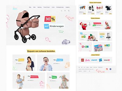 Children's online shop store shop children typography ux website web ui design