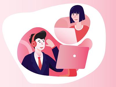 Communication IT Tech illustration flat design web branding artwork illustration art art illustrator vector creative design illustration graphic design