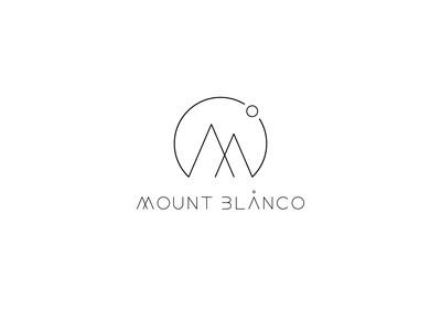 Day 8 Mount Blanco Logo lettering type illustrator vector typography graphic design branding minimal logo design