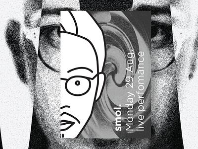 Smol. The guitar master illustration minimal lineart logo musician