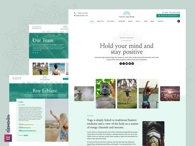 Namaste Yoga -  Premium Elementor Template Kit website meditation yoga themeforest wordpress theme elementor