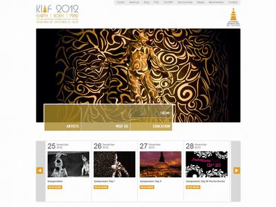 Website for  Kathmandu International Art Festival.