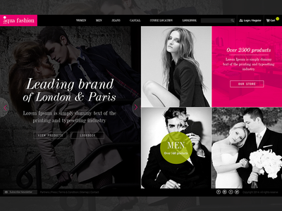Fashion Website website minimalist fashion bootstrap give away
