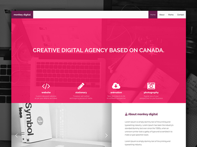 Monkey Agency give away portfolio agency creative minimalist bootstrap