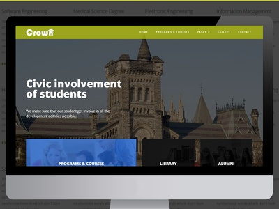 Crown College education university college website bootstrap